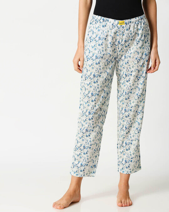Shop Blue Floral Women's Pyjama-Back