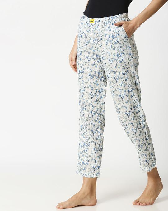 Shop Blue Floral Women's Pyjama-Design