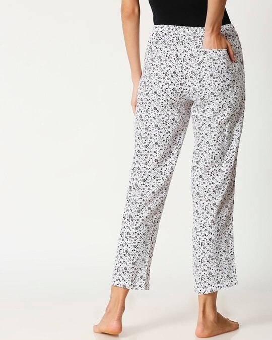 Shop White Floral Women's Pyjama-Full