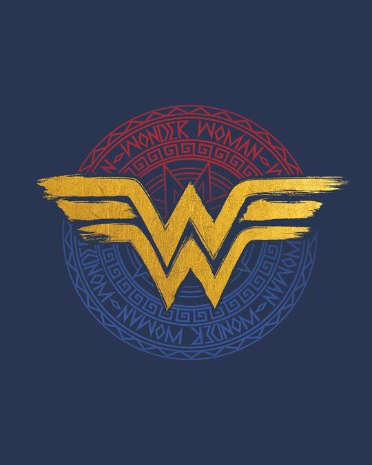Shop Wonder Woman Foil Logo Boyfriend T-Shirt (DCL)