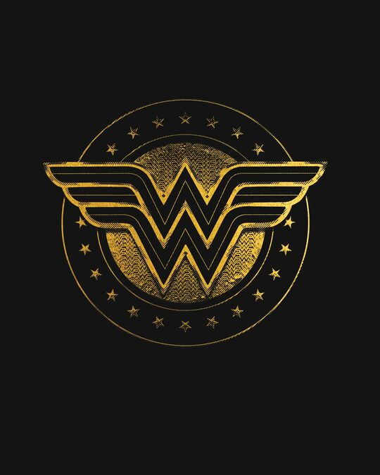 Shop Wonder Woman Gold Plated Logo Fleece Hoodie (DCL)