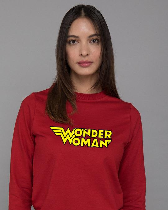 Shop Wonder Woman Main Fleece Sweater-Front