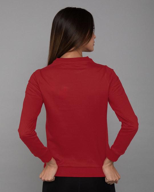 Shop Wonder Woman Main Fleece Sweater-Back