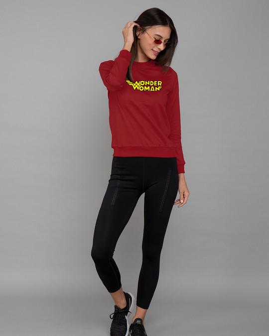 Shop Wonder Woman Main Fleece Sweater-Design