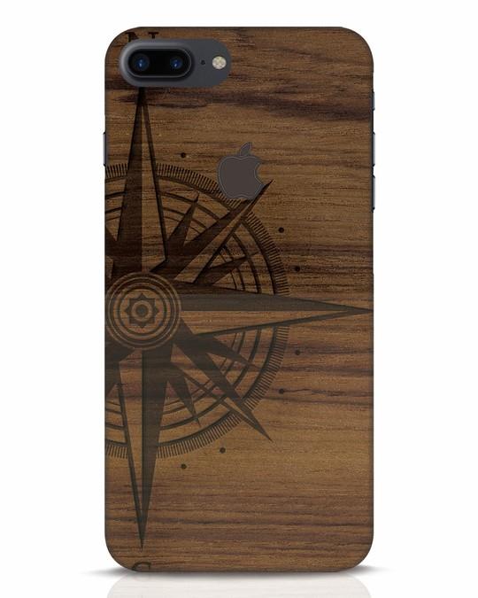 Shop Wood Compass iPhone 7 Plus Logo Cut Mobile Cover-Front