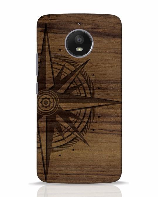 Shop Wood Compass Moto E4 Plus Mobile Cover-Front
