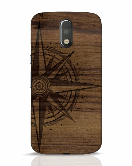 Shop Wood Compass Moto G4 Plus Mobile Cover-Front