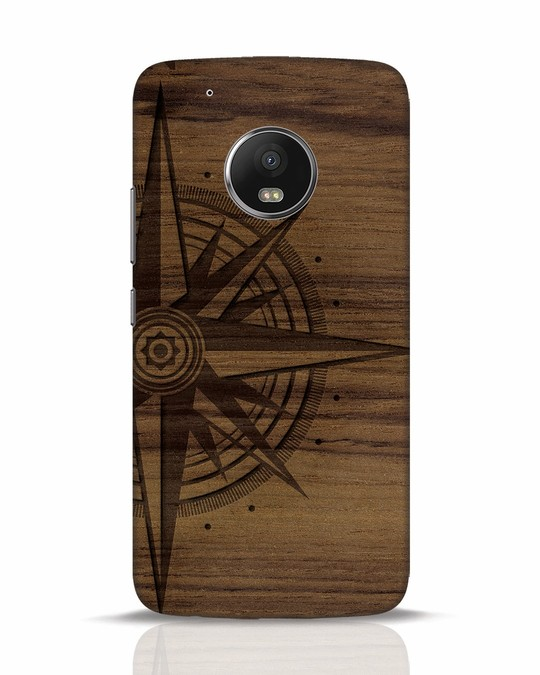 Shop Wood Compass Moto G5 Plus Mobile Cover-Front