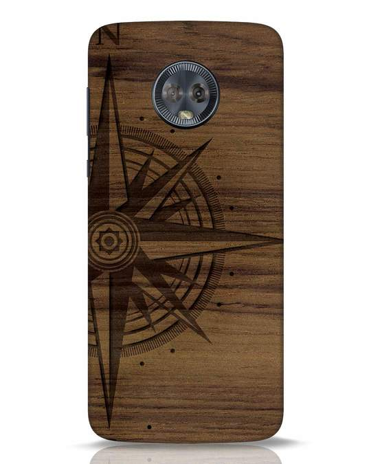 Shop Wood Compass Moto G6 Mobile Cover-Front