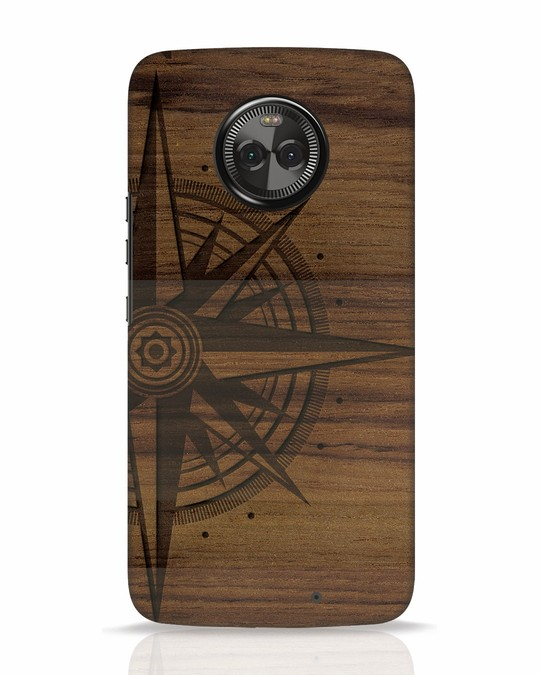Shop Wood Compass Moto X4 Mobile Cover-Front