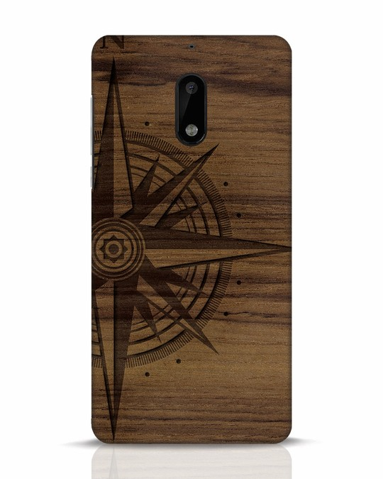 Shop Wood Compass Nokia 6 Mobile Cover-Front