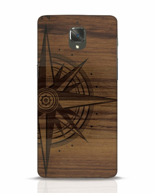 Shop Wood Compass OnePlus 3 Mobile Cover-Front