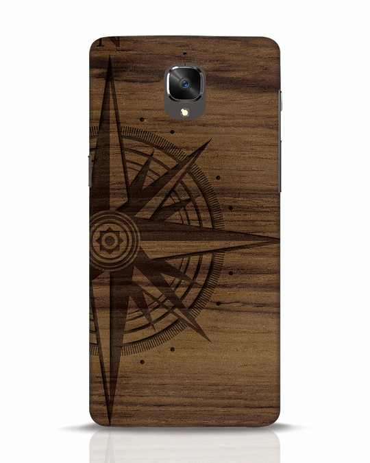 Shop Wood Compass OnePlus 3T Mobile Cover-Front