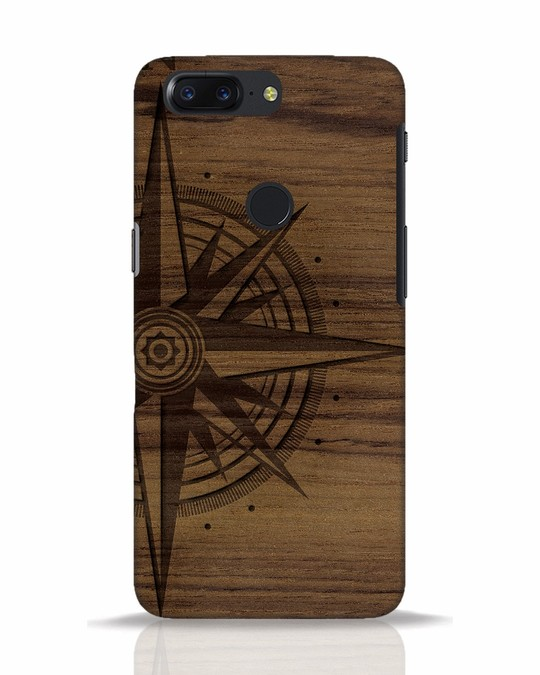 Shop Wood Compass OnePlus 5T Mobile Cover-Front