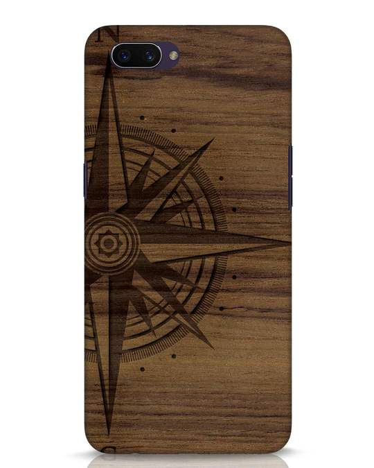 Shop Wood Compass Oppo A3S Mobile Cover-Front
