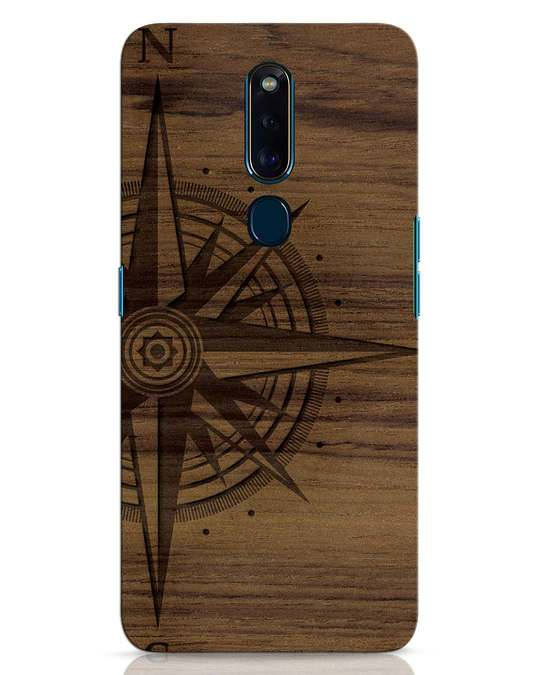 Shop Wood Compass Oppo F11 Pro Mobile Cover-Front