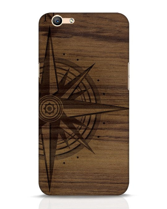 Shop Wood Compass Oppo F1s Mobile Cover-Front