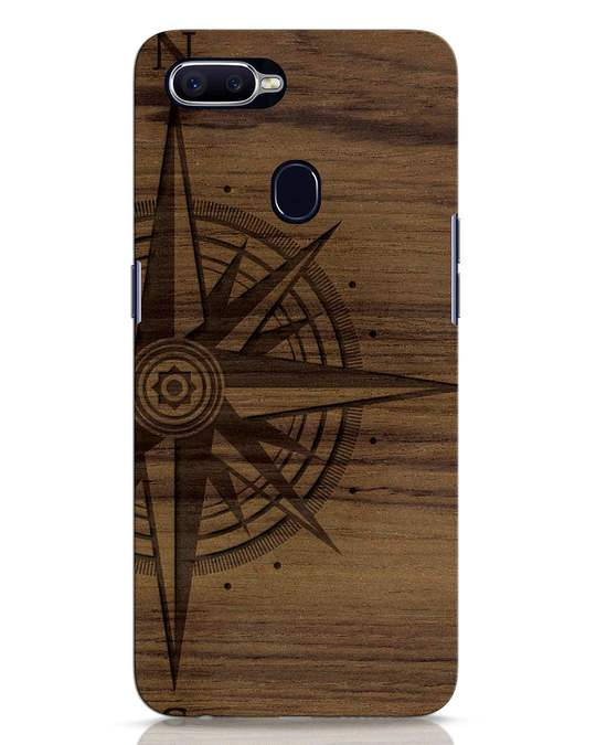 Shop Wood Compass Oppo F9 Pro Mobile Cover-Front