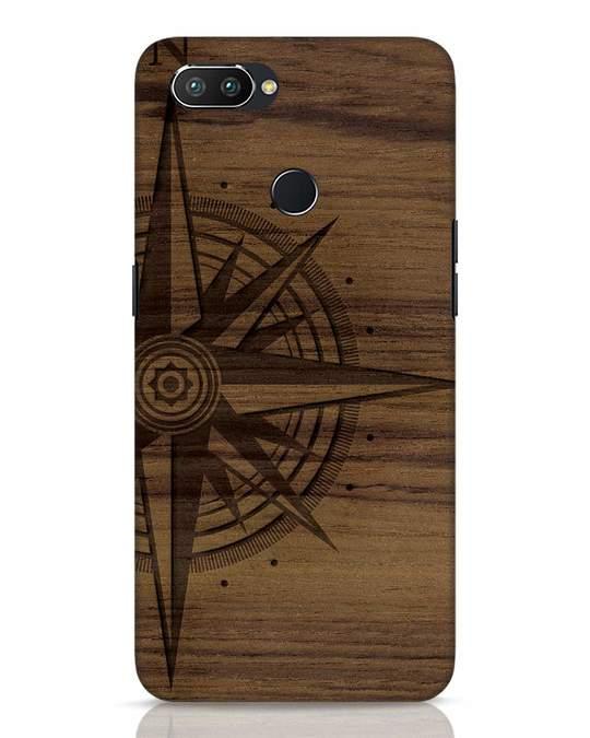 Shop Wood Compass Realme 2 Pro Mobile Cover-Front