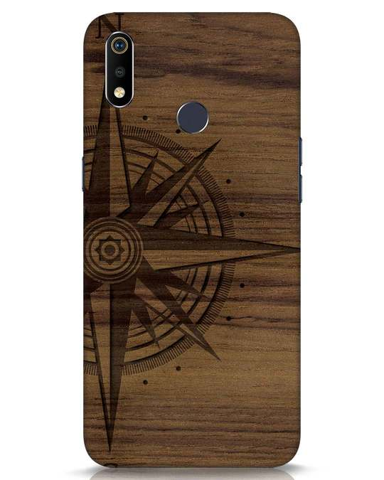 Shop Wood Compass Realme 3i Mobile Cover-Front