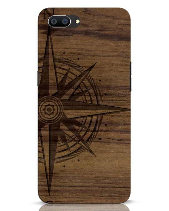 Shop Wood Compass Realme C1 Mobile Cover-Front