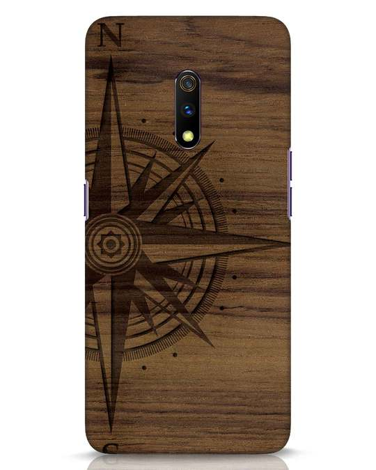Shop Wood Compass Realme X Mobile Cover-Front