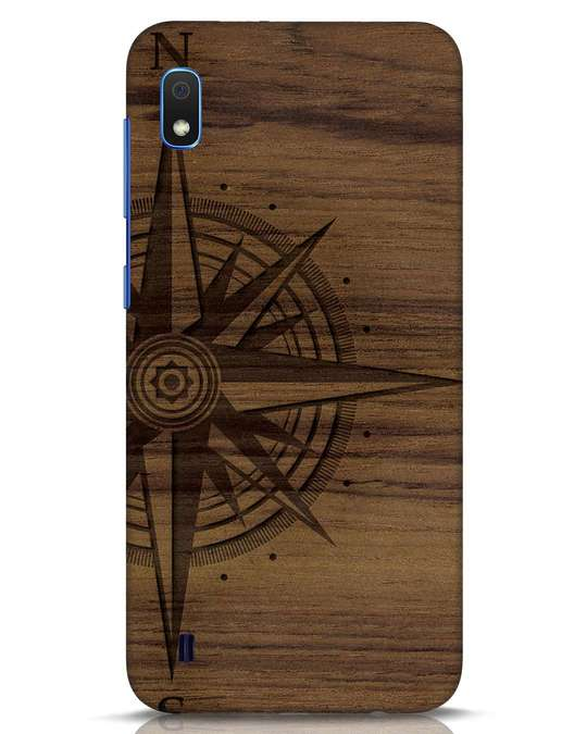 Shop Wood Compass Samsung Galaxy A10 Mobile Cover-Front