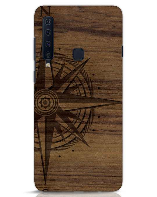 Shop Wood Compass Samsung Galaxy A9 2018 Mobile Cover-Front