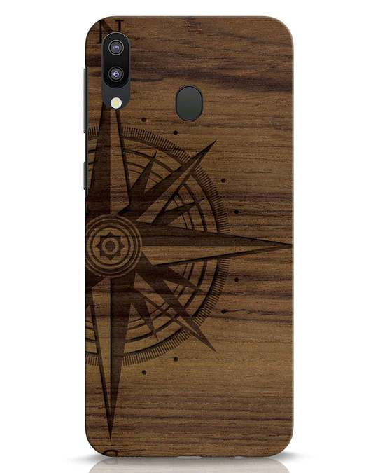 Shop Wood Compass Samsung Galaxy M20 Mobile Cover-Front
