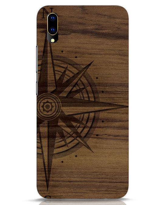 Shop Wood Compass Vivo V11 Pro Mobile Cover-Front