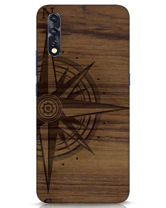 Shop Wood Compass Vivo Z1x Mobile Cover-Front