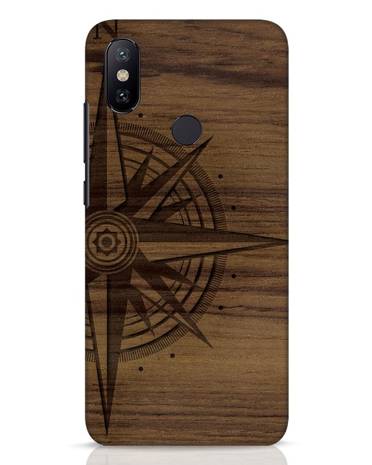 Shop Wood Compass Xiaomi Mi A2 Mobile Cover-Front