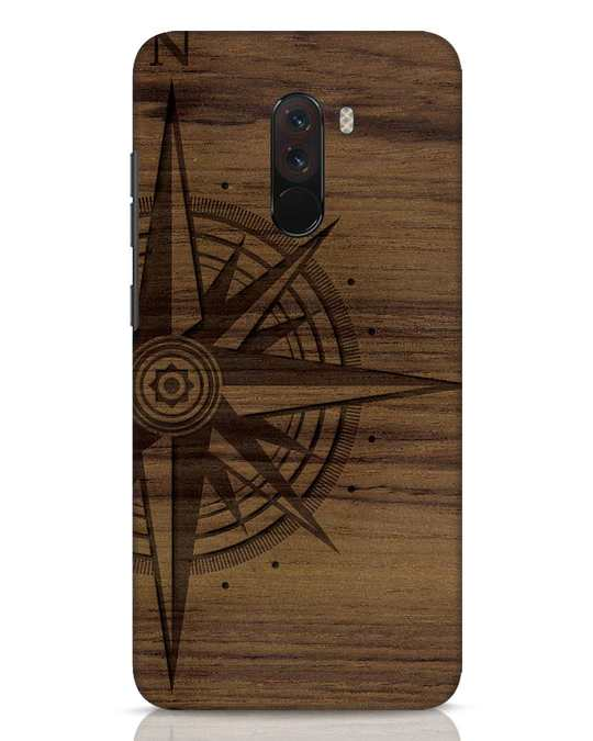 Shop Wood Compass Xiaomi POCO F1 Mobile Cover-Front