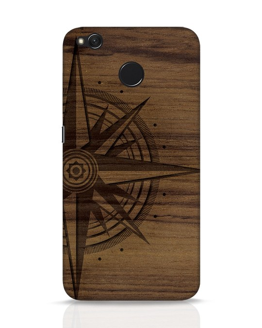 Shop Wood Compass Xiaomi Redmi 4 Mobile Cover-Front