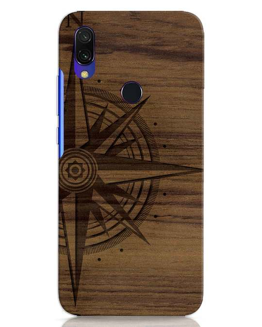 Shop Wood Compass Xiaomi Redmi 7 Mobile Cover-Front