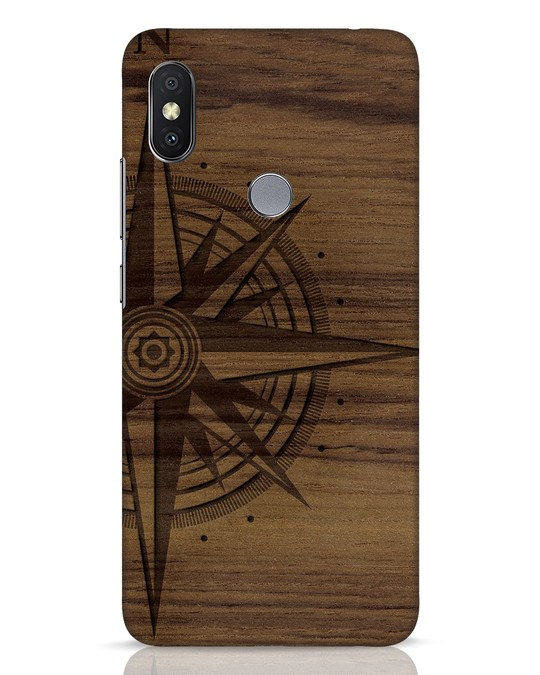 Shop Wood Compass Xiaomi Redmi Y2 Mobile Cover-Front