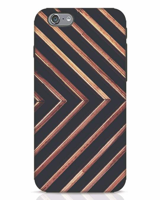 Shop Wood Stripe iPhone 6 Mobile Cover-Front