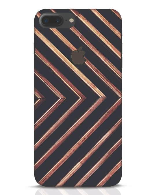 Shop Wood Stripe iPhone 7 Plus Logo Cut Mobile Cover-Front