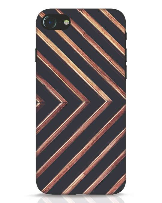 Shop Wood Stripe iPhone 8 Mobile Cover-Front