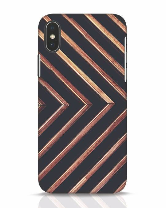 Shop Wood Stripe iPhone X Mobile Cover-Front