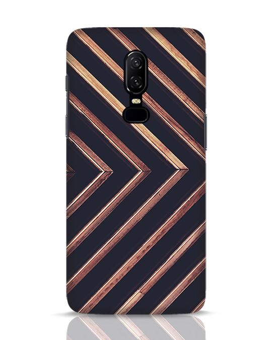 Shop Wood Stripe OnePlus 6 Mobile Cover-Front