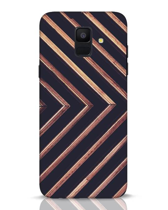 Shop Wood Stripe Samsung Galaxy A6 2018 Mobile Cover-Front