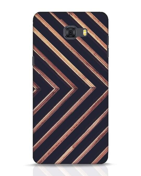 Shop Wood Stripe Samsung Galaxy C9 Pro Mobile Cover-Front