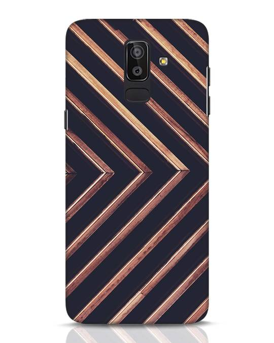 Shop Wood Stripe Samsung Galaxy J8 Mobile Cover-Front