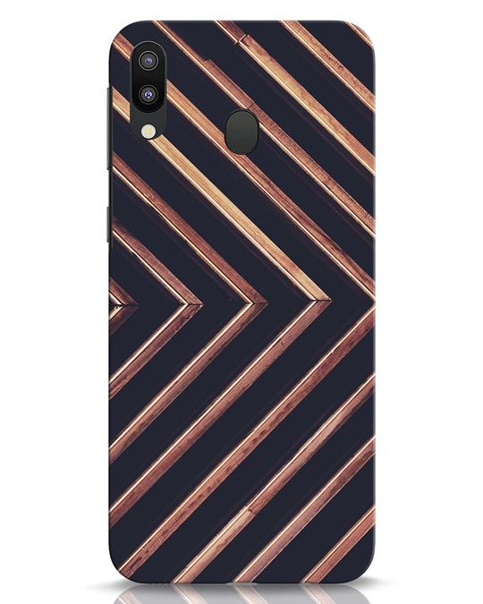 Shop Wood Stripe Samsung Galaxy M20 Mobile Cover-Front