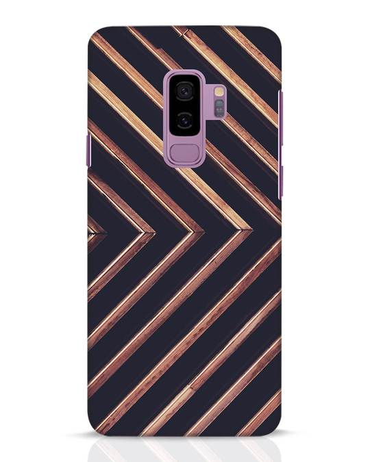 Shop Wood Stripe Samsung Galaxy S9 Plus Mobile Cover-Front