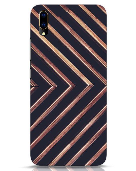 Shop Wood Stripe Vivo V11 Pro Mobile Cover-Front