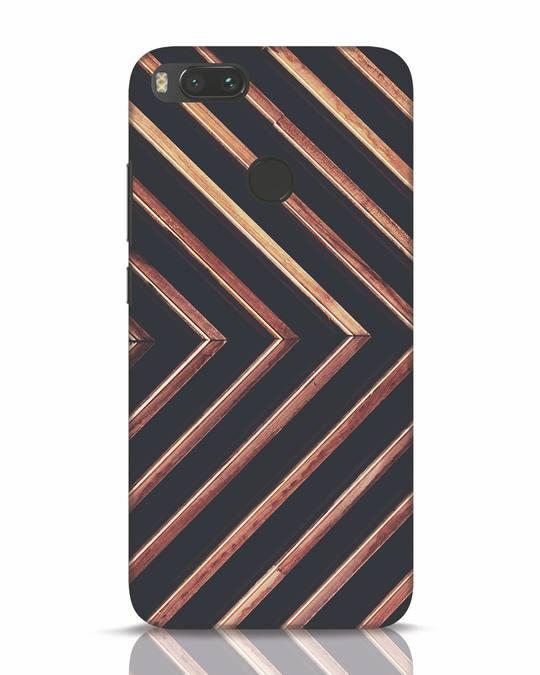 Shop Wood Stripe Xiaomi Mi A1 Mobile Cover-Front