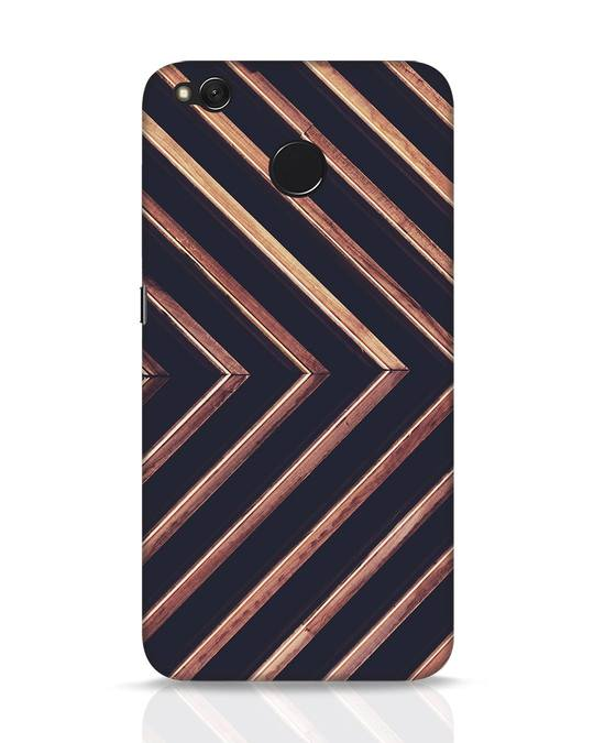 Shop Wood Stripe Xiaomi Redmi 4 Mobile Cover-Front