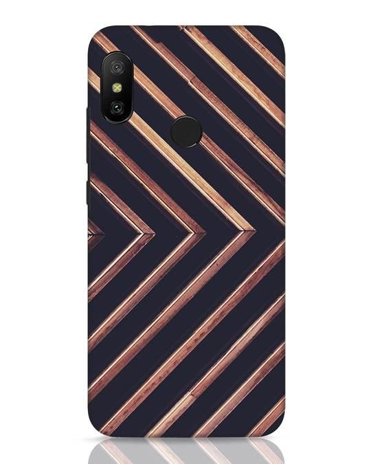 Shop Wood Stripe Xiaomi Redmi 6 Pro Mobile Cover-Front